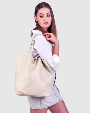 BEE The Monica Tote Beige Handbags Beige