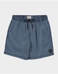 Billabong - Groms All Day Overdye Layback Boardshorts