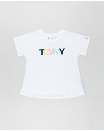 Tommy Hilfiger - Coloured Tommy Logo SS Tee - Teens