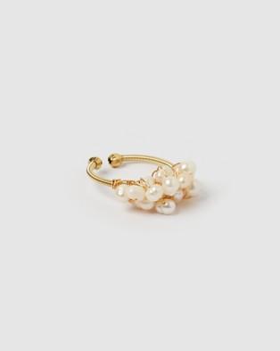 Miz Casa and Co Zain Ring - Jewellery (Gold Freshwater Pearl)