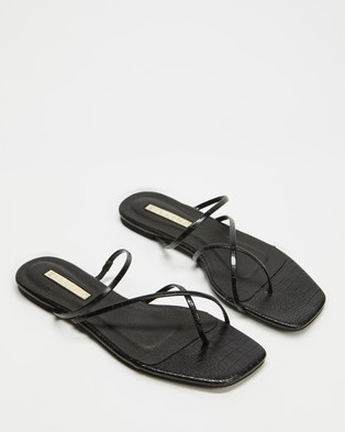 Billini Andre Sandals Black Croc