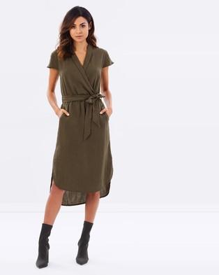 Atmos & Here – Bonnie Wrap Dress Khaki