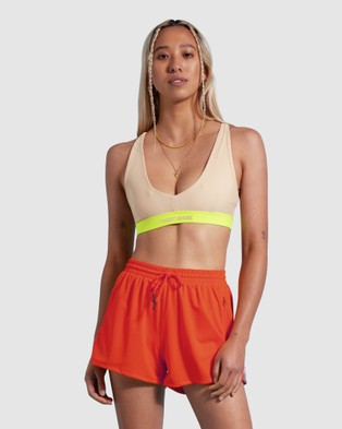 First Base Step Up Crop - Sports Bras (Nude)