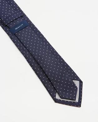 Gant - Polka Dot Silk Tie - Ties (Persian Blue) Polka Dot Silk Tie