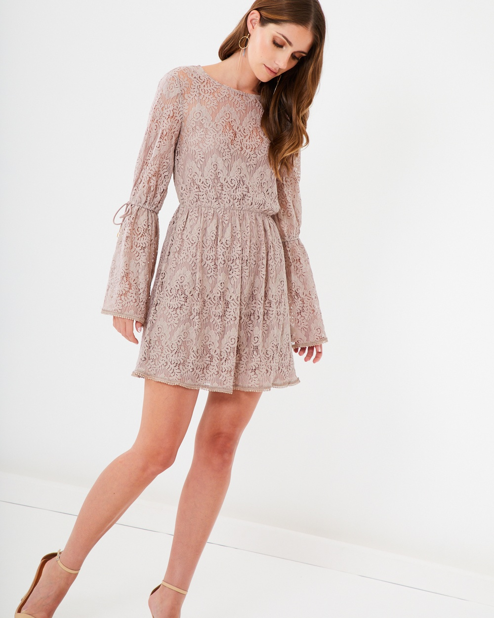 CHANCERY Indiana Lace Mini Dress Dresses Taupe Indiana Lace Mini Dress