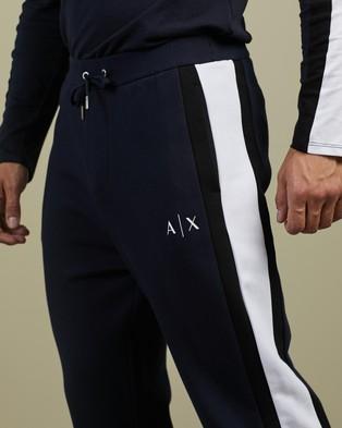 Armani Exchange Double Knit Fleece Joggers - Sweatpants (Navy)