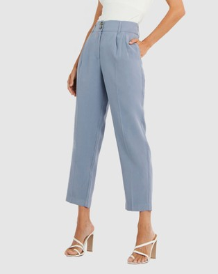 Forcast Mia Tapered Trousers - Pants (Pigeon Blue)