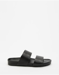 Assembly Label - Double Strap Slides - Women's