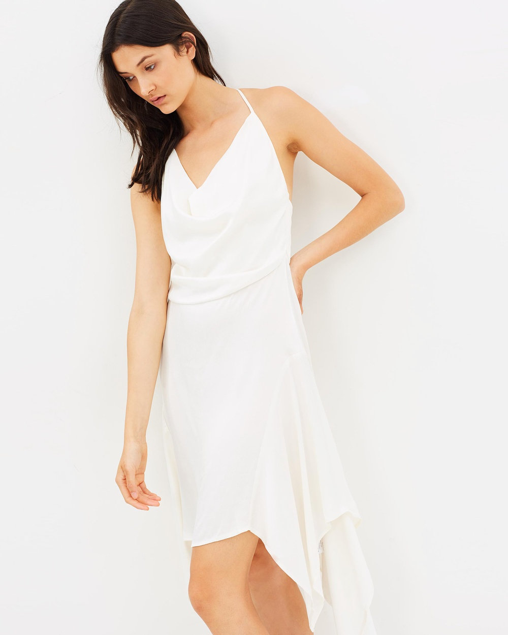 Airlie Monaco Cowl Neck Dress Dresses Cream Monaco Cowl Neck Dress