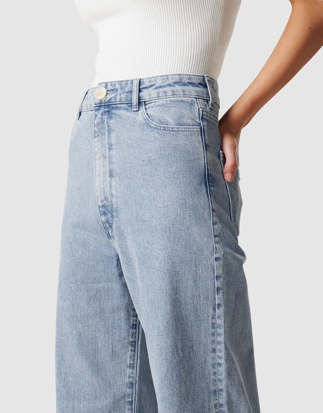 Women Gia High Rise Wide Leg Jean