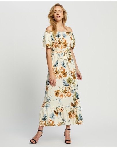 Dorothy Perkins - Puff Sleeve Bardot Dress