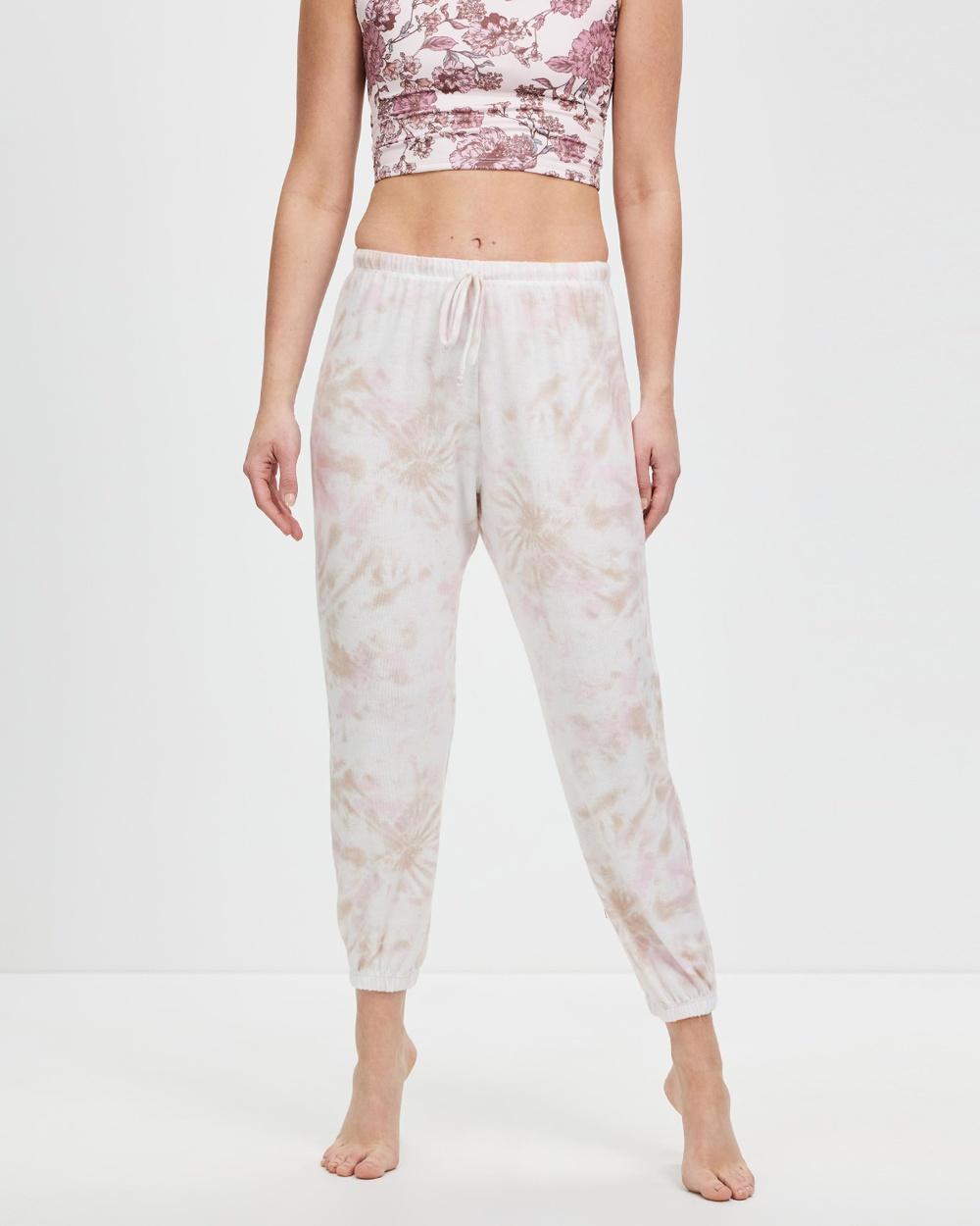 Onzie Weekend Sweatpants Track Pants Rose Quartz Tie Dye