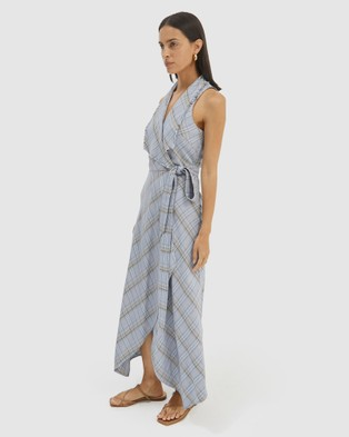 SABA Dani Check Midi Dress - Dresses (Multi )