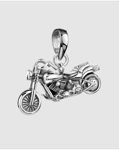 Kuzzoi Pendants Motorcycle Bike In 925 Sterling Silver