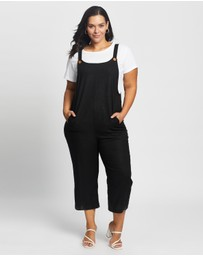 Atmos&Here Curvy - Anika Linen Blend Jumpsuit