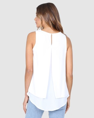 Madison The Label McKinna Top - T-Shirts & Singlets (White)
