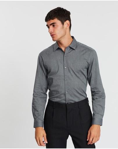 Cerruti 1881 Cotton Long Sleeve Shirt Grey