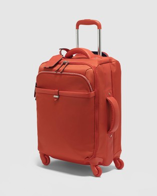Lipault Paris Plume Avenue Spinner 55cm Expandable Suitcase - Travel and Luggage (Orange)