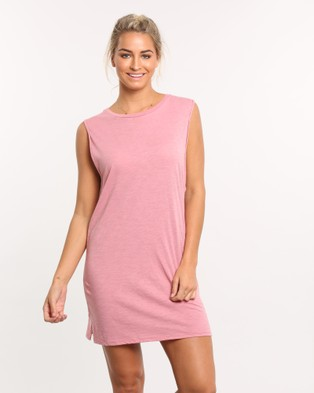 Rusty – Blank Rolled Muscle Dress – Dresses (Pink)