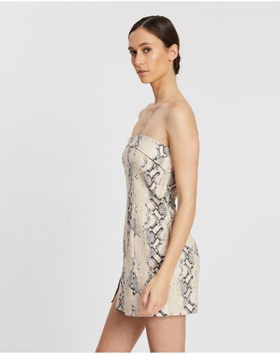 Bec + Bridge Franco Mini Dress Snake Skin Print