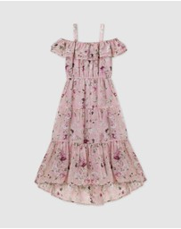 Designer Kidz - Hailey Floral Tiered Dress