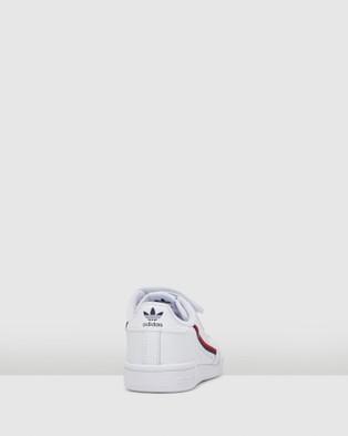 adidas Originals - Continental 80 Pre School - Sneakers (White/Red/Navy) Continental 80 Pre School