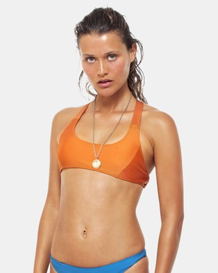 First Base – Cross Back Surf Bikini Top – Bikini Set Orange