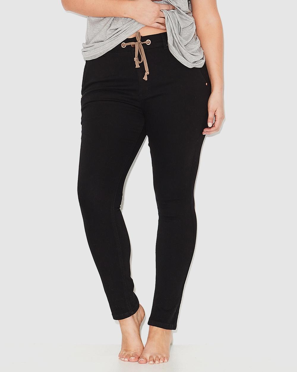 17 Sundays Anti Fit Jeans High-Waisted Black
