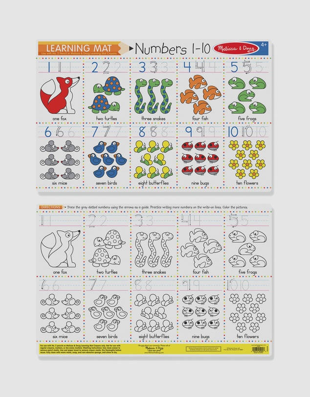 Melissa & Doug - Numbers 1-10 Write-A-Mat Bundle of 6