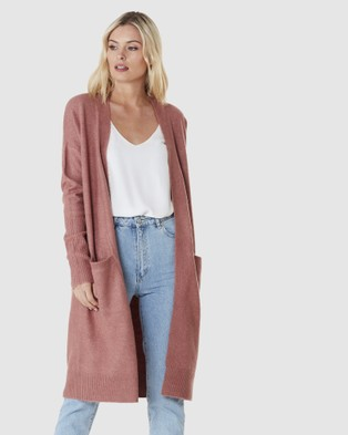 Everly Collective Toronto Long Cardigan - Jumpers & Cardigans (Spice)