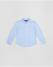 Polo Ralph Lauren - Ruffled Cotton Oxford Shirt - Kids