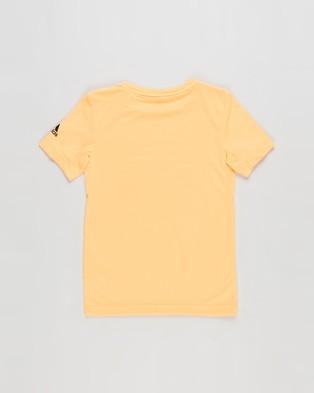 adidas Performance All Caps Tee   Kids T-Shirts & Singlets (Flash Orange & Black)