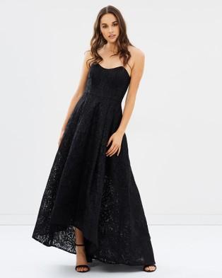 Bariano – Amber Metallic Jacquard Ball Gown – Bridesmaid Dresses (Black)
