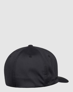 Quiksilver Mens Amped Up Flexfit Cap - Headwear (True Black)