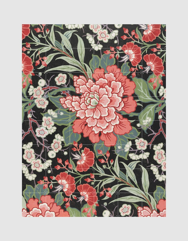 Life Wall Art Textile Design with Flowers Small