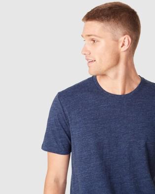 French Connection Indigo Dye T Shirt - T-Shirts & Singlets (INDIGO)