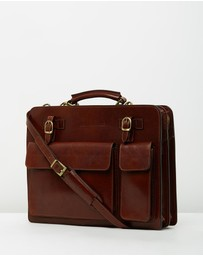 Republic of Florence - Munich Brown Briefcase