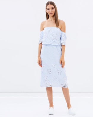 Livingstone Cooper – Hugo Layered Dress – Dresses (Blue Stripe)