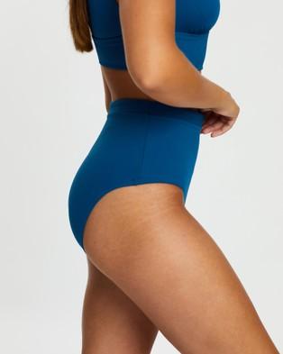 BONDI BORN Tatiana Bikini Bottoms - Bikini Bottoms (Teal)