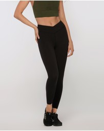 Lorna Jane - Wrap Waistband Ankle Biter Tights