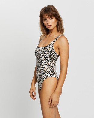 JETS Prowess Square Neck One Piece - One-Piece / Swimsuit (Natural)