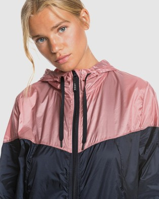 Roxy Womens Take It This Hooded Cropped Windbreaker - Coats & Jackets (Anthracite)