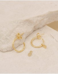 By Charlotte - Grace Gold Hoop Earrings