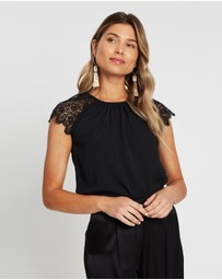 Atmos&Here - Betty Lace Shoulder Blouse