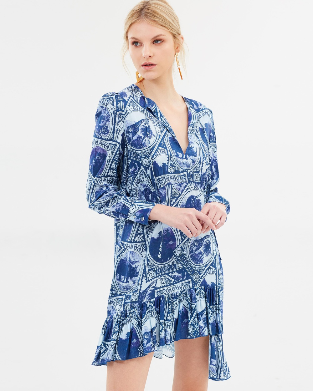 Karen Walker Amour Dress Printed Dresses Ink Amour Dress