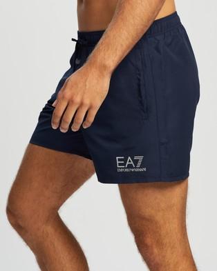 Emporio Armani EA7 - Logo Boardshorts Swimwear (Navy Blue)