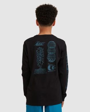 Quiksilver Boys 8 16 Beta Test Long Sleeve T Shirt - Long Sleeve T-Shirts (Black)