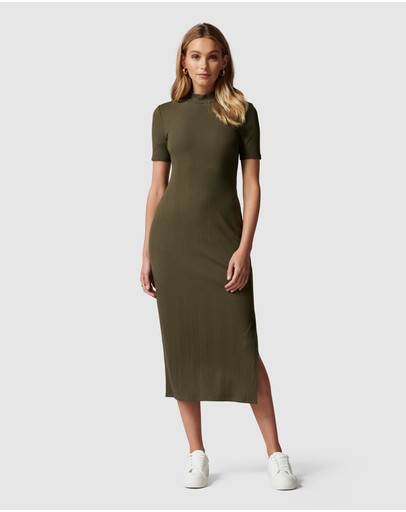 Forever New - Aisha High Neck Rib Dress