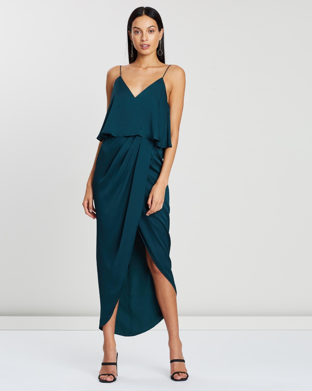 Shona Joy Cocktail Frill Dress Bridesmaid Dresses Emerald Cocktail Frill Dress