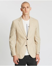 REISS - Bamboo Brushed Wool Single-Breasted Blazer